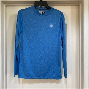 RBX Blue Long Sleeve Performance/ Athletic Top
